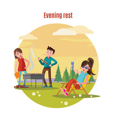 Colorful outdoor recreation concept vector