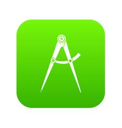 compass tool icon digital green vector image