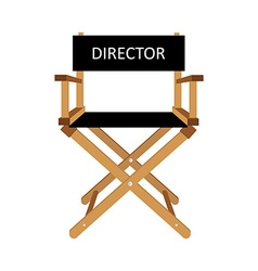 Director chair vector image