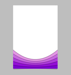 Document template from purple curved layers vector