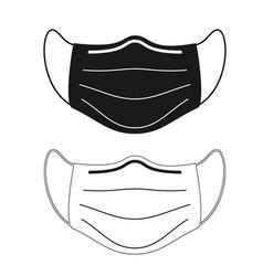 face masks pictograph set icons black vector image