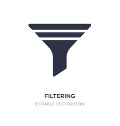 Filtering icon on white background simple element vector