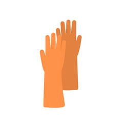flat icon rubber glove vector image