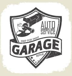 garage grinder prep vector image