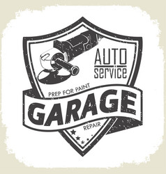 Garage grinder prep vector