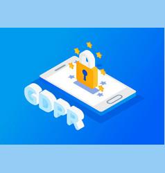 General data protection regulation vector