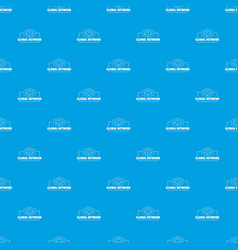 global network pattern seamless blue vector image
