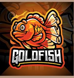Goldfish esport mascot logo design vector