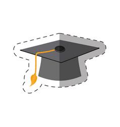 Graduation cap thin line vector