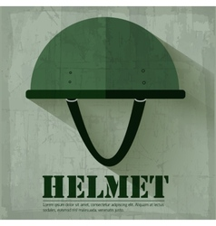 Grunge military helmet icon background concept vector