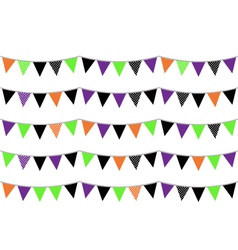 Halloween flags or bunting isolated on white vector image