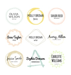 Handdrawn Logo Collection vector