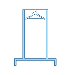 Hanger rail icon vector