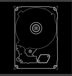 Hard drive disk the white path icon vector