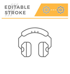headphones line icon vector image