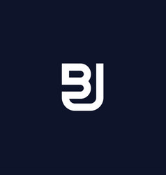 Initials bu logo is simple and modern 4 vector