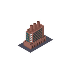 isolated factory isometric industry vector image