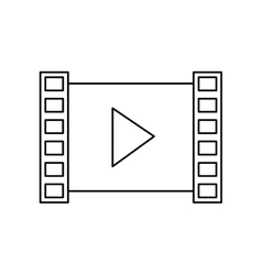 Isolated play of movie design vector