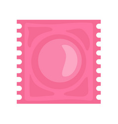 Latex condom icon flat style vector