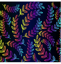 neon branches - pattern vector image
