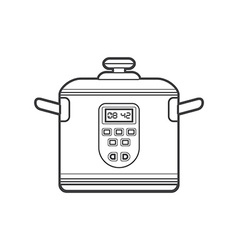 outline kitchen multicooker vector image