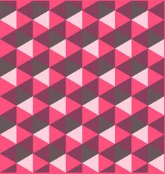 pink hexagonal pyramids seamless pattern vector image