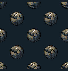 Playing ball seamless pattern vector