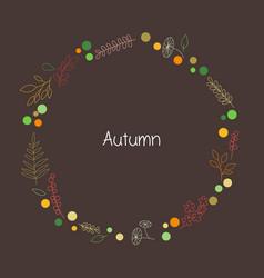 Printdoodle autumn leaves wreath vector