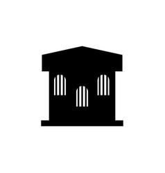Prison building icon vector