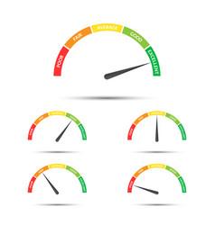 Rating customer satisfaction meter pieces vector