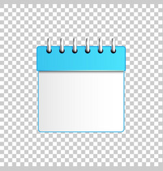 realistic calendar blue isolated object vector image