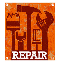repair and service banner vector image