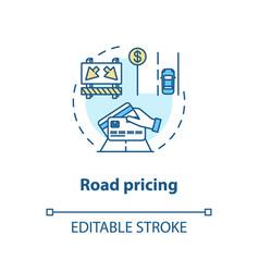 Road pricing concept icon vector