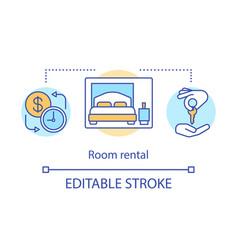Room rental concept icon vector