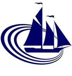Sailing ship-19 vector