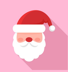 santa face icon flat style vector image