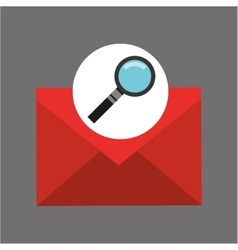Searching email message icon graphic vector