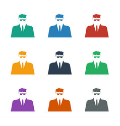 Security guy icon white background vector