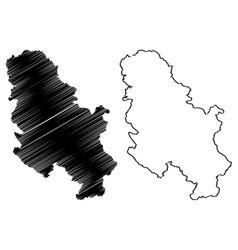 Serbia map vector