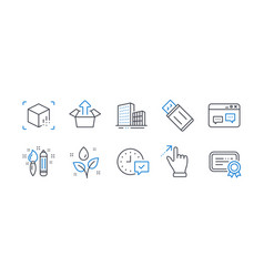 Set business icons such as send box browser vector