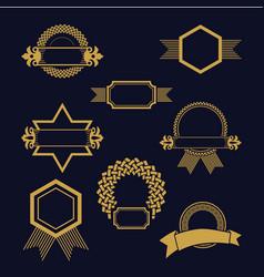 Set decorative emblems vector