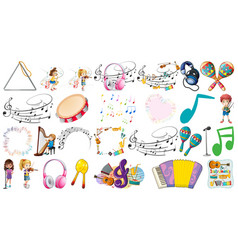 set music element vector image