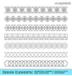 Set of geometric hipster shapes and vector image