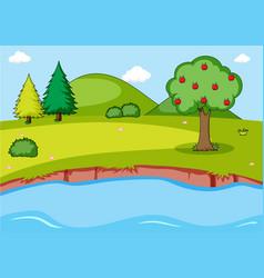 Simple nature landscape background vector