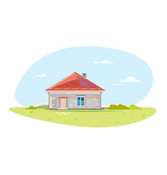 Small brick house vector