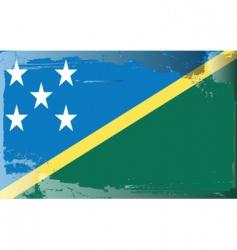 solomon islands national flag vector image