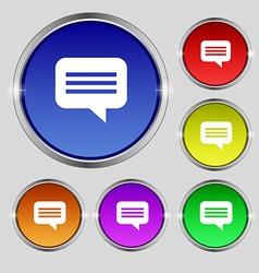 Speech bubble Chat think icon sign Round symbol on vector