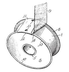 Spool of adhesive tape vintage vector
