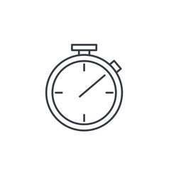 Stopwatch thin line icon linear symbol vector