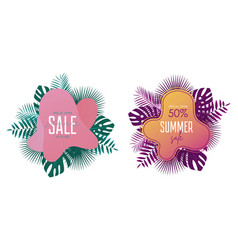 summer sale banner template promotion banners vector image